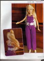Macacão de Crochê Para Barbie Com Gráfico e PAP