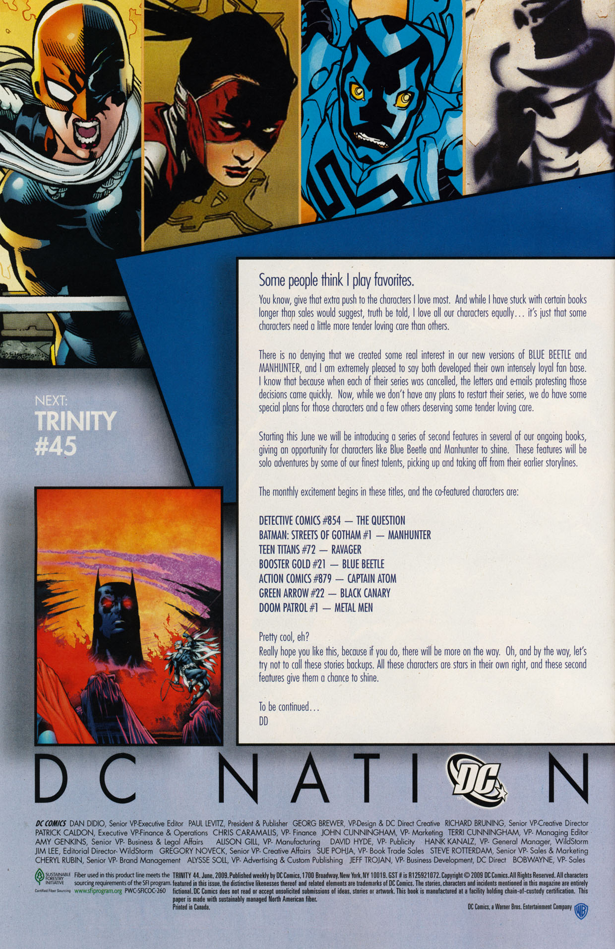 Read online Trinity (2008) comic -  Issue #44 - 31