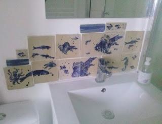 piastrelle murali ceramica pesci