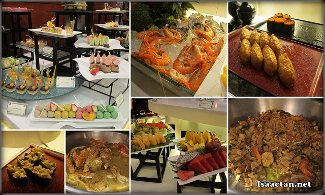 Some of the dinner buffet spread at Checkers Cafe Dorsett Regency Kuala Lumpur