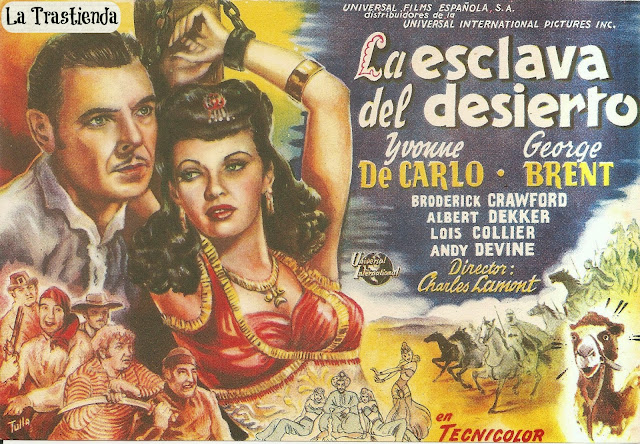 Programa de Cine - La Esclava del Desierto - Yvonne de Carlo - George Brent