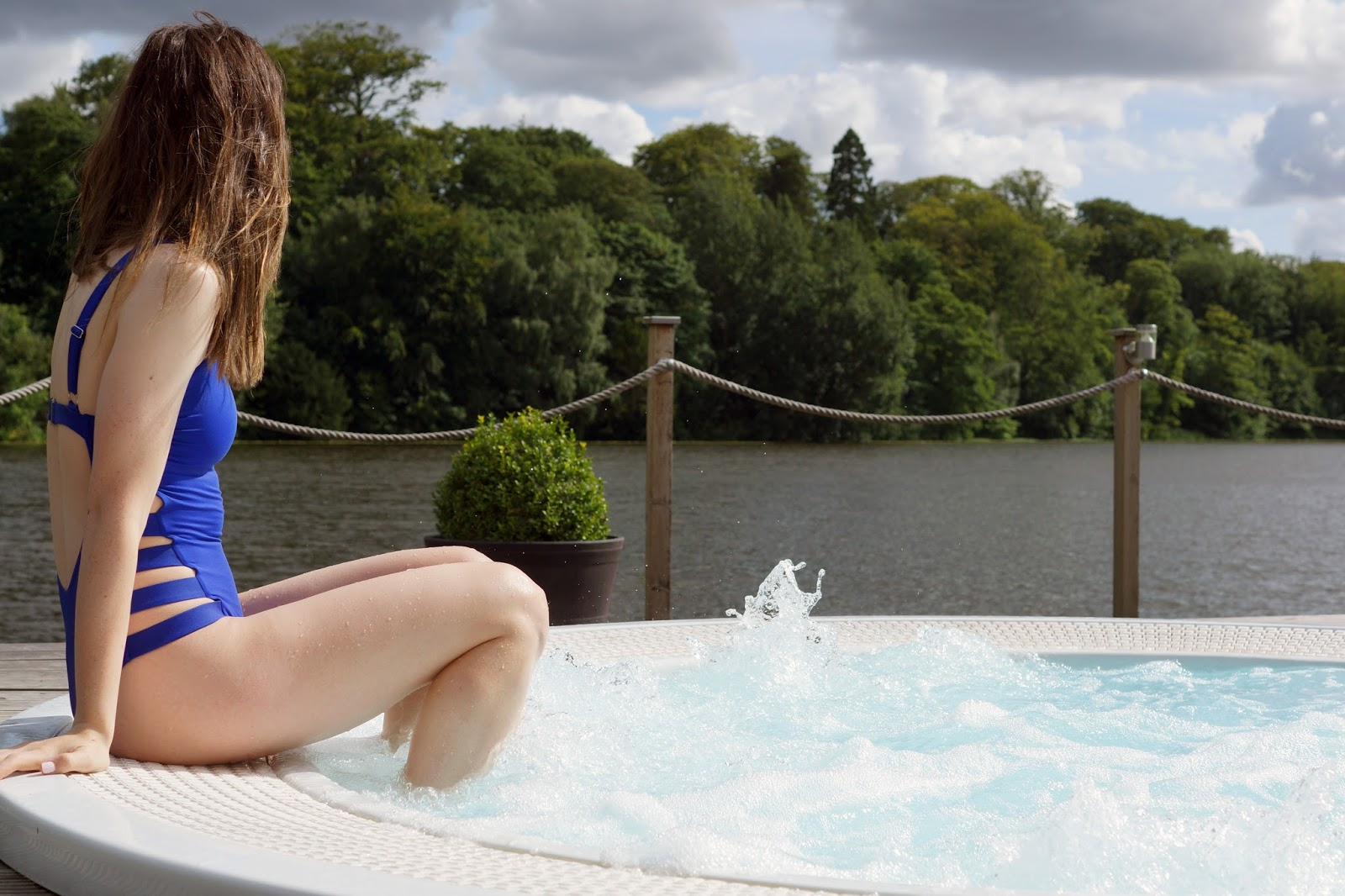 Hello Freckles Wynyard Hall Spa Billingham Stockton North East England Spa Day Pamper Review Outdoor Hot Tub Blogger