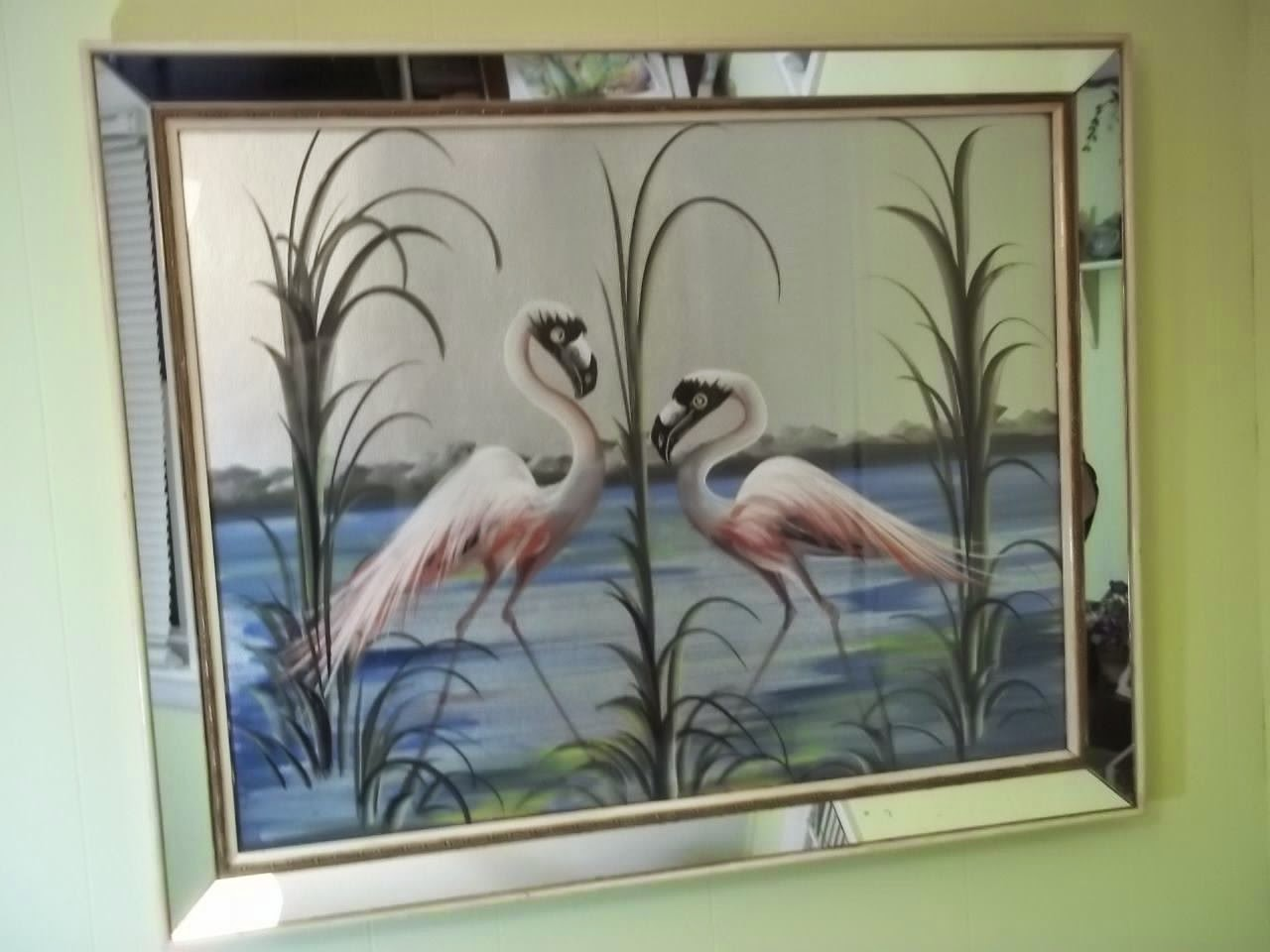 Paintings By M Devoe: TWO FLAMINGOS IN THE ORIGINAL
