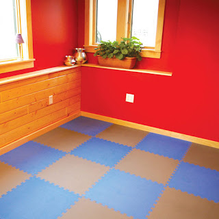 Greatmats foam tiles blue grey
