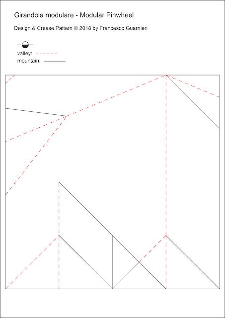 Origami CP, Girandola modulare - Modular Pinwheel by Francesco Guarnieri