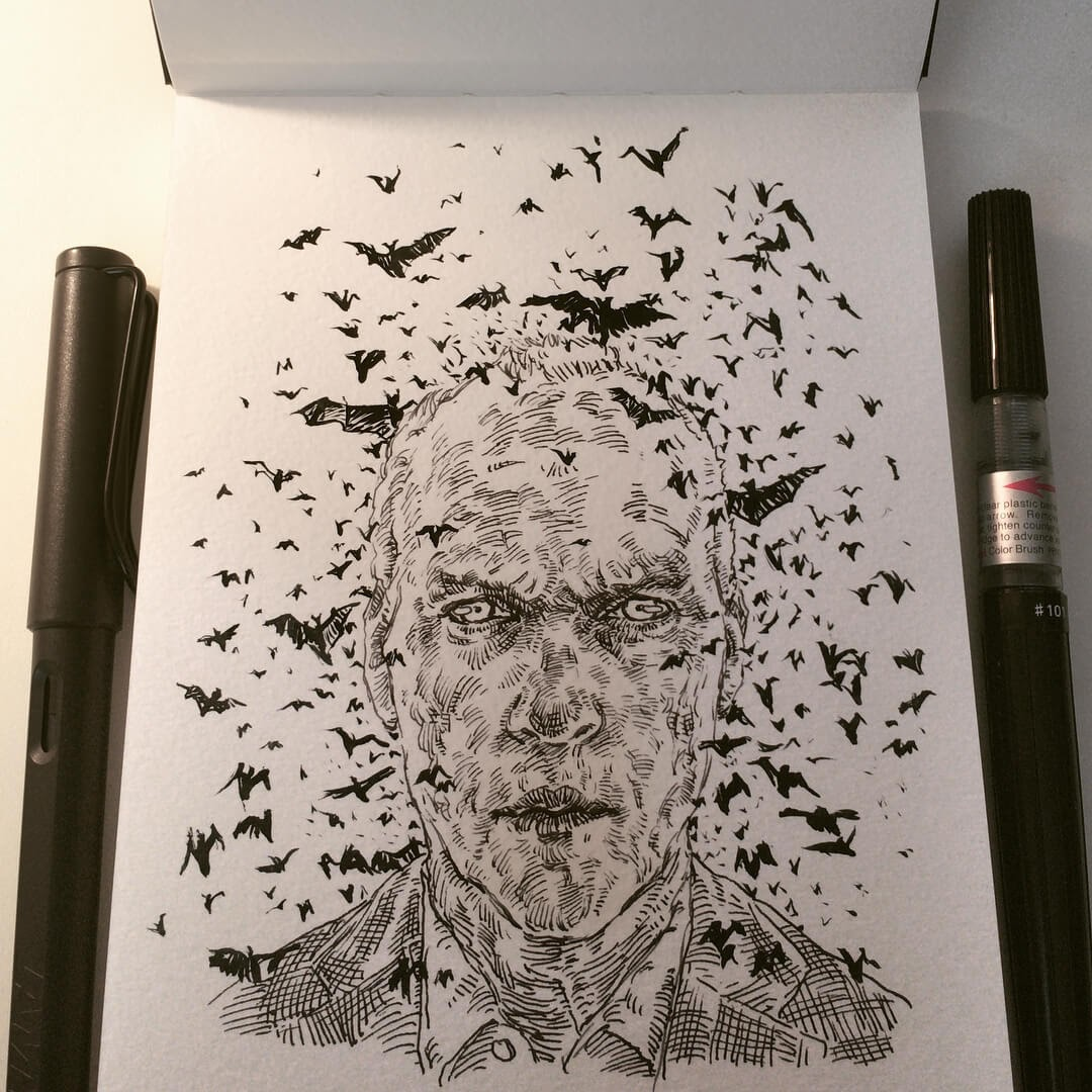 10-Inktober-2017-Uniquelab-Eclectic-Portraits-Different-Styles-and-Mediums-www-designstack-co