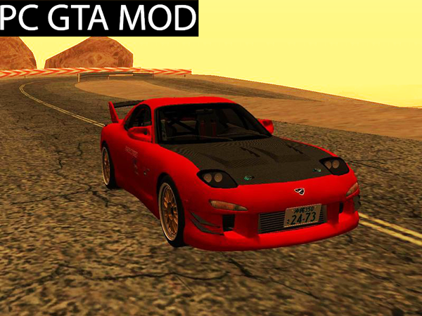 Free Download Mazda RX-7 FD3s Touge Warrior Red Brother Mod for GTA San Andreas