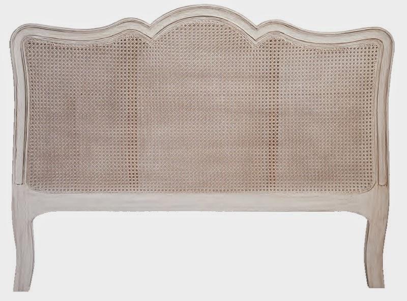 cabezal dormitorio blanco decape marron
