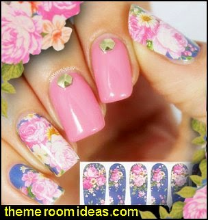 nail decorations-Lily & Peony Nail Wraps-nail decorations