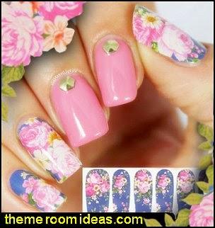 nail decorations-Lily & Peony Nail Wraps-nail decorations