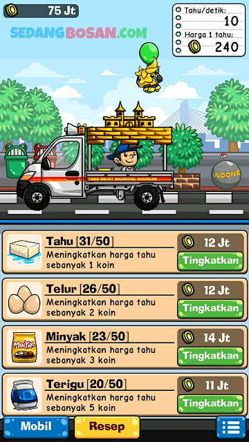 Upgrade Resep Dan Bahan Game Tahu Bulat