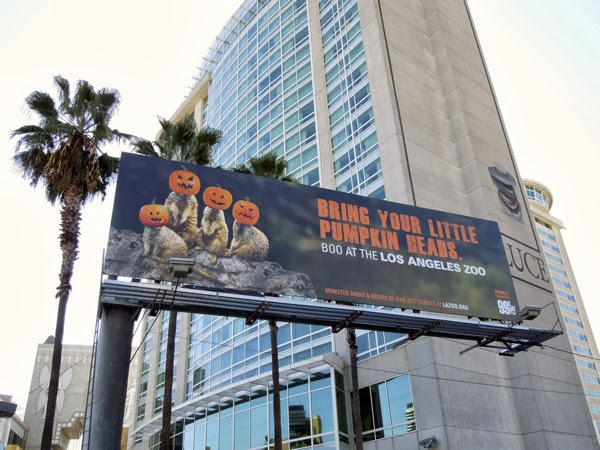 LA Zoo Bring your little pumpkin heads billboard
