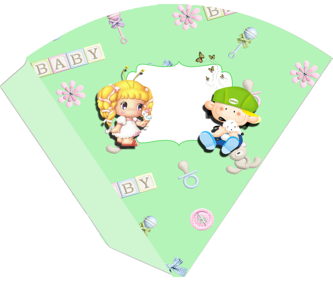 Conos= Cucuruchos para Imprimir Gratis de Bebés.