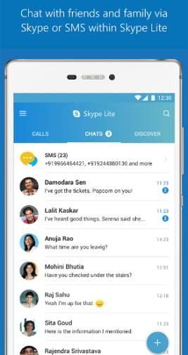 Skype Lite applicazione Android disponibile ufficialmente anche in Italia.