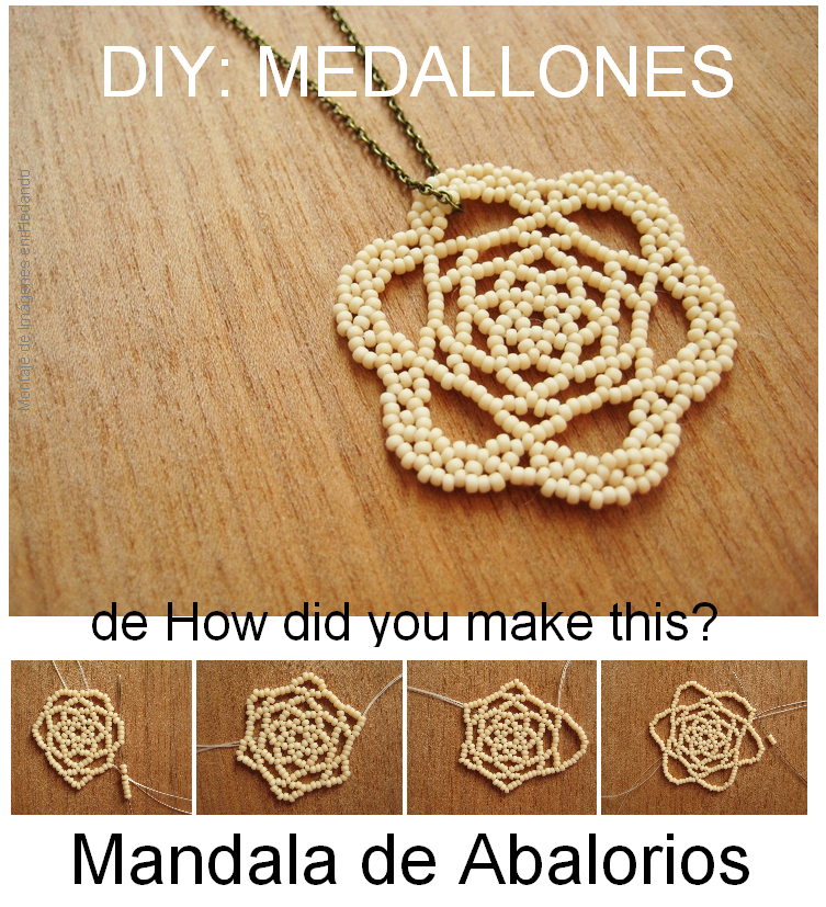 medallion, medallon, mandala, mostacillas, bisutería, colgante