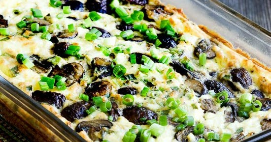 Kalyn's Kitchen®: Low-Carb Mushroom and Feta Breakfast Casserole