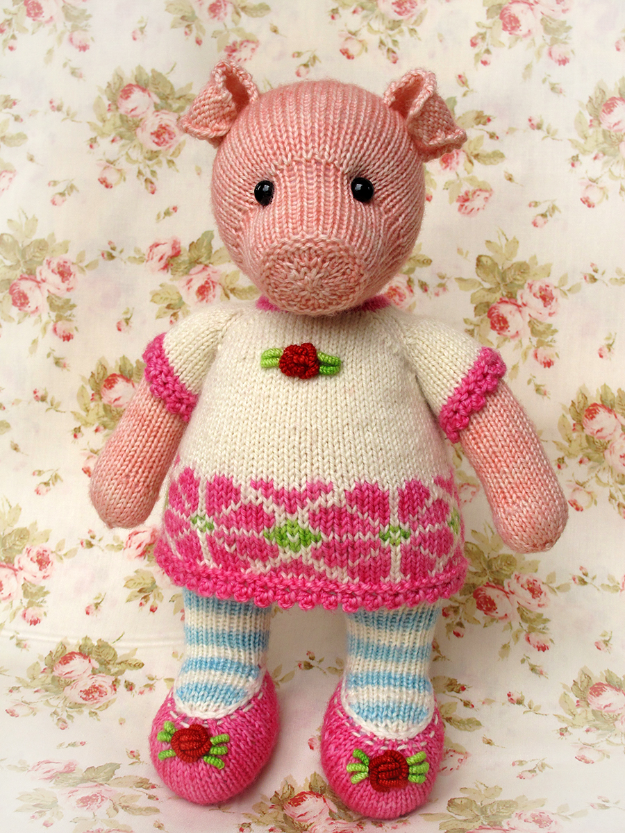 Free Toy Knitting Patterns Only : Heidi Bears: :: Pigwig the Piglet Knitting Pattern
