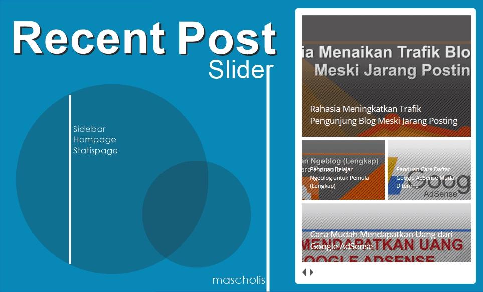Cara Memasang Widget Recent Post dengan Efek Slider