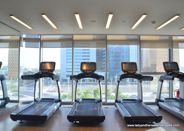 gym at Capital Centre Arjaan by Rotana