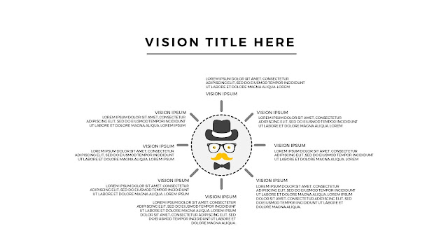 Free Infographic Vision Section with Hipster For PowerPoint Presentation