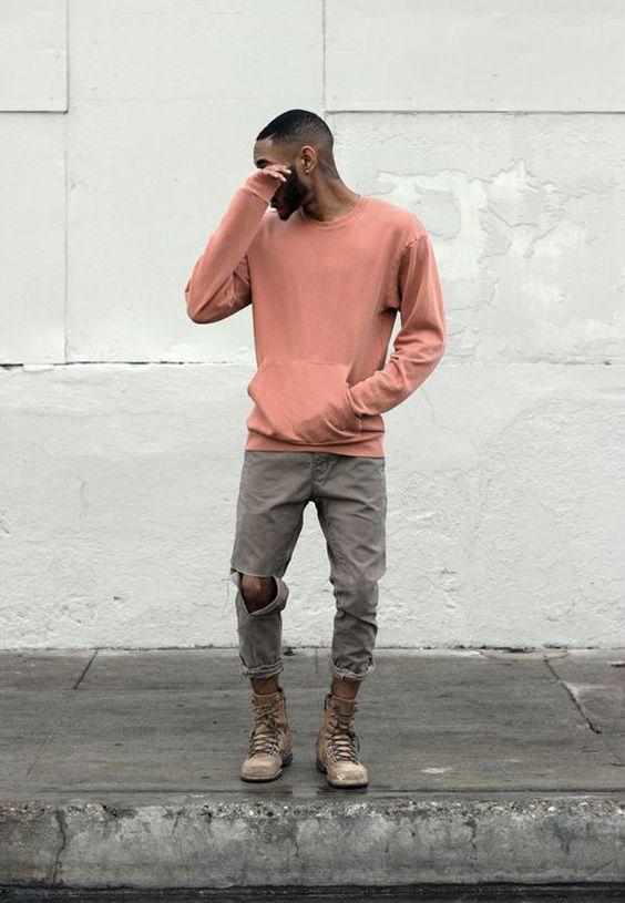 Look masculino com Cortuno Bota Cano Alto marrom