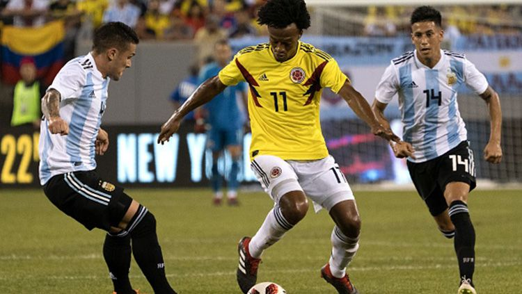 Cuplikan Skor Pertandingan Kolombia vs Argentina