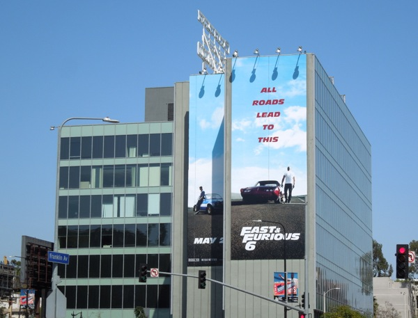 Fast and Furious 6 movie billboard