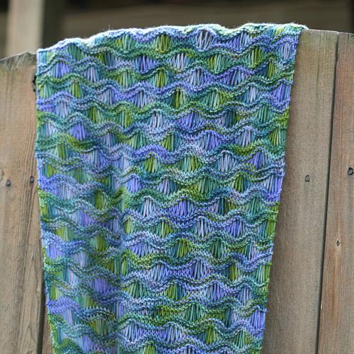 Drop Stitch Scarf free Knitting pattern