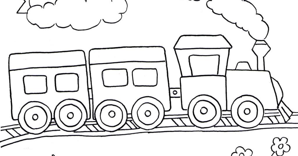 Gambar Kereta Api Untuk Mewarnai Cara Mewarnai Gambar Kereta Api