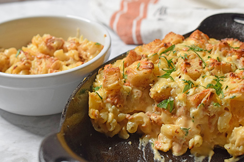 Fire roasted mac and cheese
