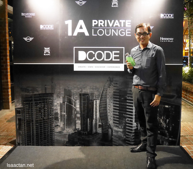 At the launch of DCODE 1A Private Lounge