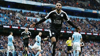 Riyad Mahrez scored a wonderful solo goal to make it 2-0 to Leicester at Manchester City.