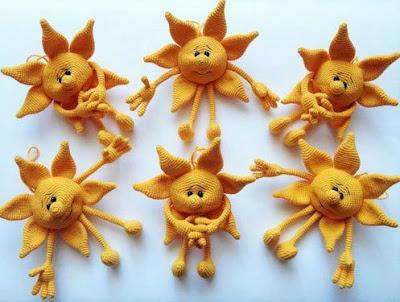 Вязаное солнце игрушка крючком амигурми