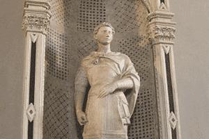 San Jorge, estatua en mármol de la iglesia de Orsanmichele, una de las obras que esculpió Donatello