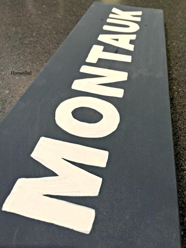 Montauk painted sign