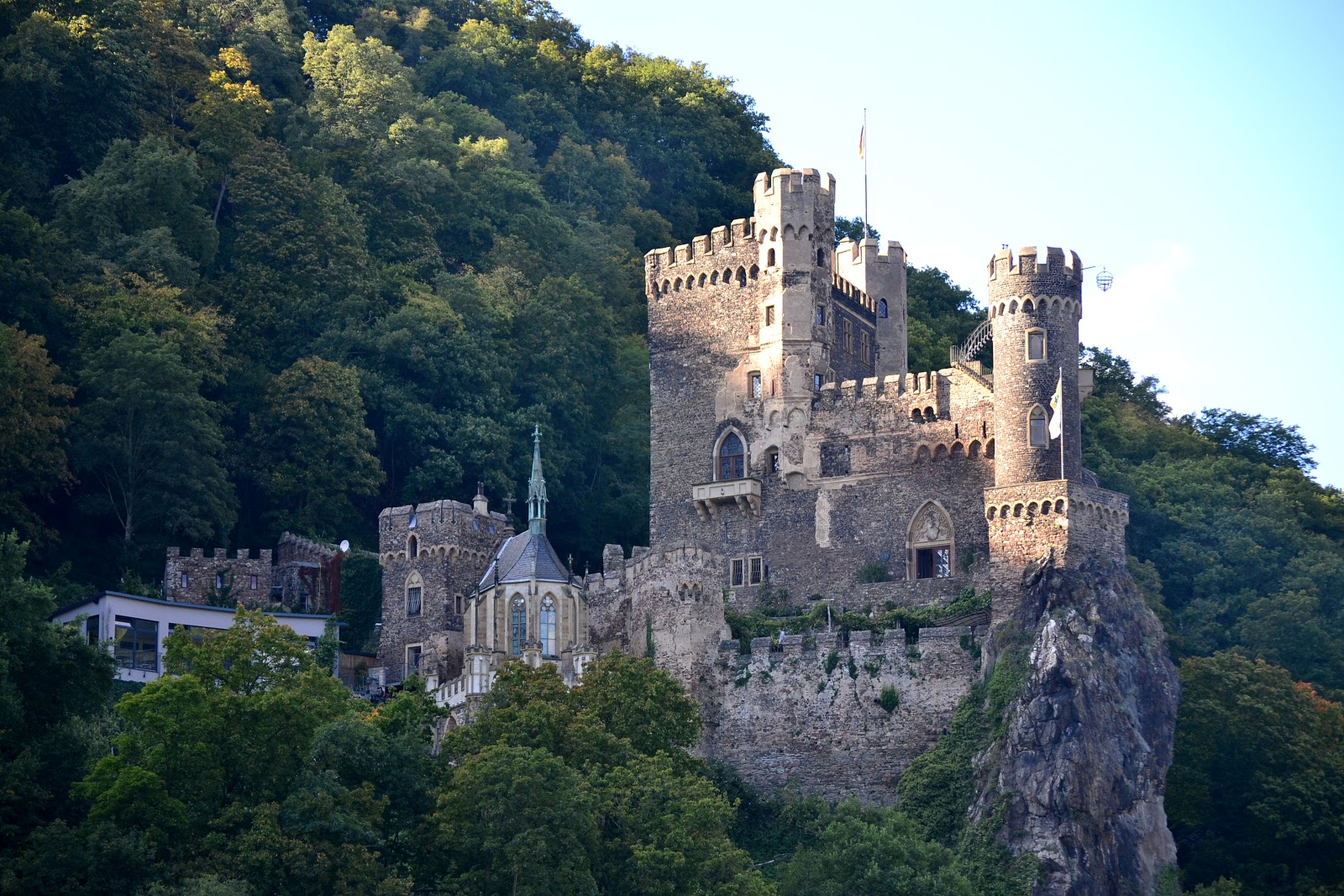 Rheinstein Castle was originally named Fatzberg by the Archbishops of Mainz when it was built in the 13th century.