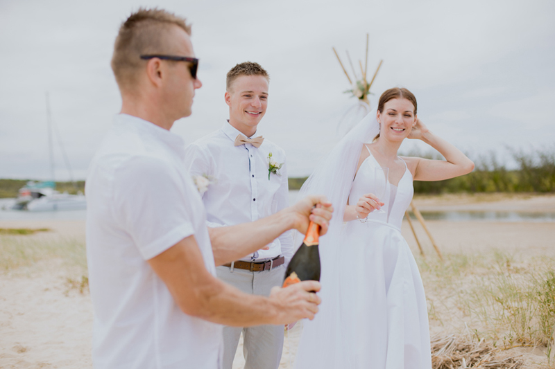 wedding champagne photo