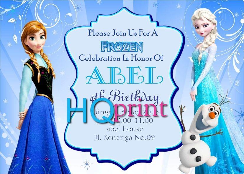Desain Undangan Ulang Tahun Anak Perempuan Tema Frozen