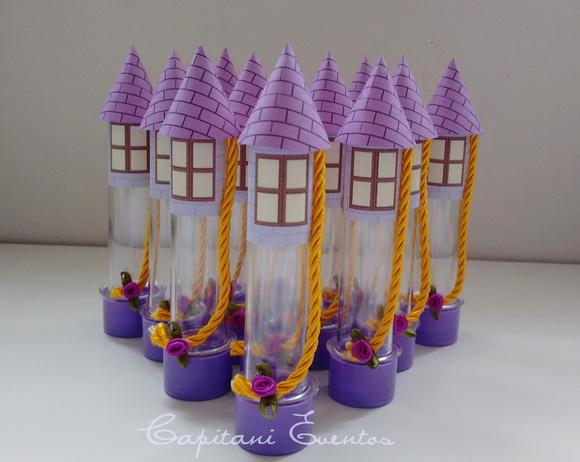 Lembrancinha Enrolados Rapunzel torre