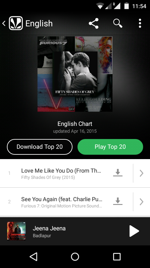 Extract songs from Saavn app