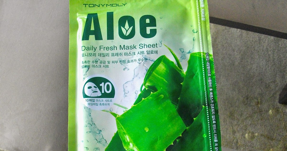 My Obsessions: Review: TONY MOLY Daily Fresh Mask Sheet Aloe
