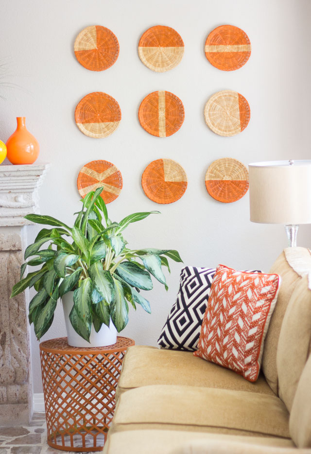 DIY Basket Wall Art & DIY Basket Wall Art | Design Improvised