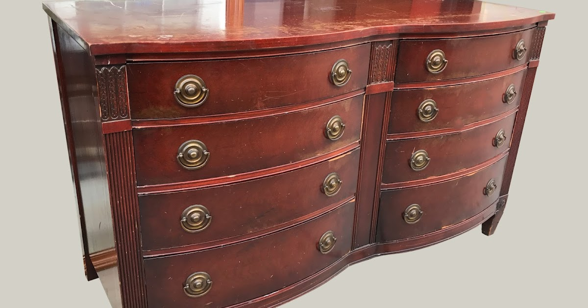 Uhuru Furniture Collectibles Mahogany Double Bow Front Dresser 165 Sold