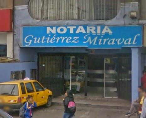 Notaría Gutierrez Miraval