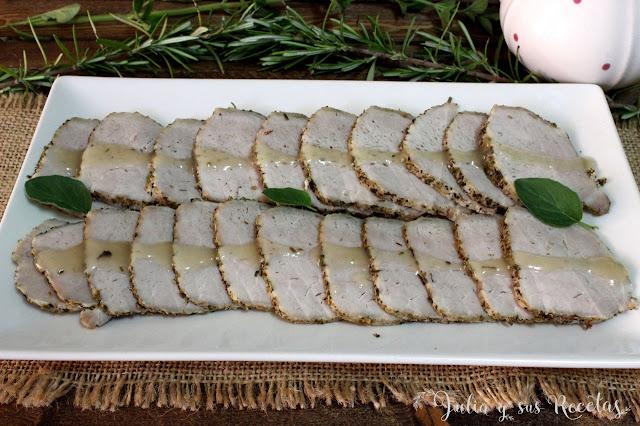 Lomo de cerdo a las hierbas provenzales. Julia y sus recetas