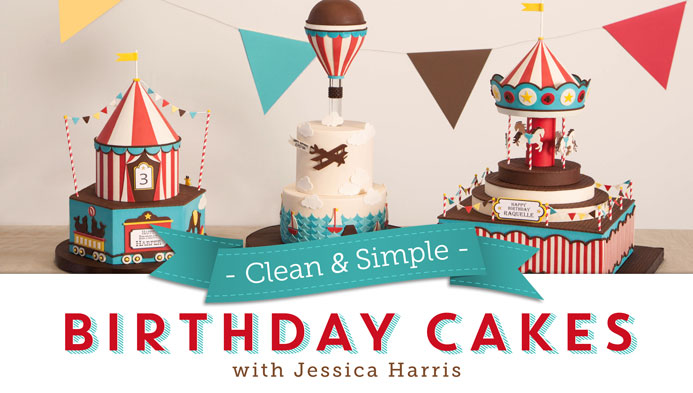 Amazing Clean Simple Birthday Cakes The Class Is Live Jessica Funny Birthday Cards Online Alyptdamsfinfo