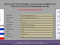 Download Aplikasi Pembuatan Raport Tingkat Satuan Pendidikan KTSP Jenjang SMA