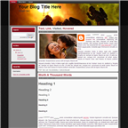 Free Firefighter Blogger Template