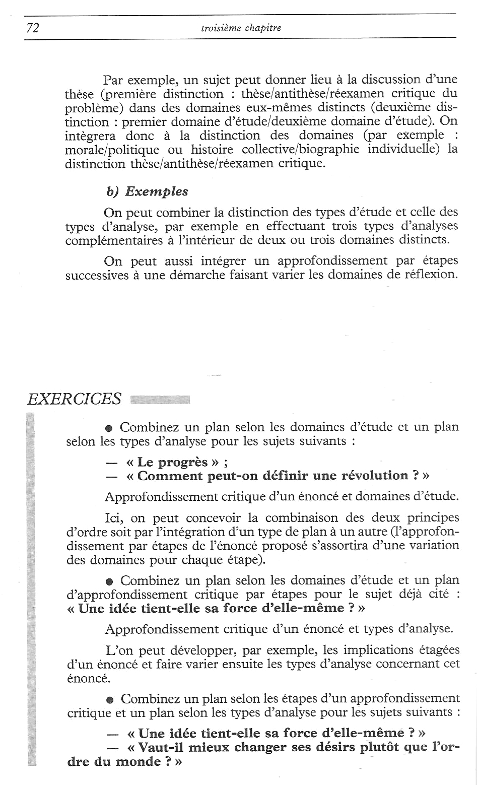 Dissertation de philo plan