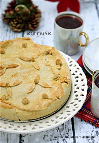 kulebiak, kapusta, wigilia, ciasto, grzyby, bernika, kulinarny pamietnik